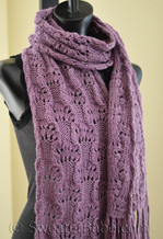 knitting pattern photo of #83 Luscious Lace Scarf PDF Knitting Pattern