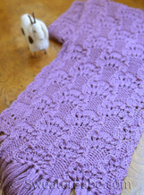 #83 Luscious Lace Scarf PDF Knitting Pattern