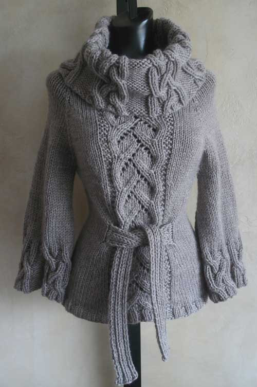 Cowl Neck Hoodie Knitting Pattern : Bestselling Chic Cowl Neck PDF Knitting Pattern from ...