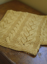 knitting pattern photo of #96 Fancy Cables and Lace Baby Blanket
