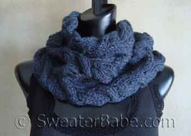 knitting pattern photo for #103 Luscious Cabled Cowl PDF Knitting Pattern