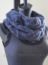 #103 Luscious Cabled Cowl PDF Knitting Pattern