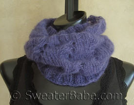 knitting pattern photo for #104 Mohair Lace Mobius Cowl PDF Knitting Pattern