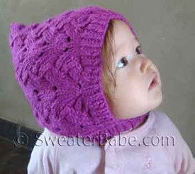 photo of #91 Fancy Stitch Pixie Baby Hat PDF Knitting Pattern