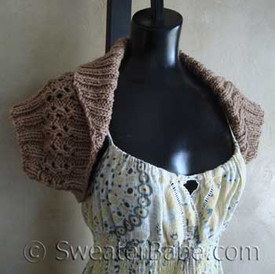 photo of #101 Quick Shawl-Collar Shrug PDF Knitting Pattern