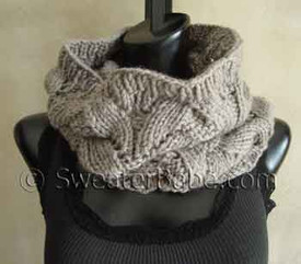 photo of #107 Deluxe Lace Cowl PDF Knitting Pattern