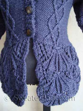 photo of #106 Shawl-Collar Nipped-Waist Cardigan PDF Knitting Pattern