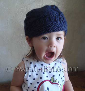 photo of #113 Super Cute One-Ball Newsboy Cap PDF Knitting Pattern