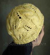 #114 Breezy Lace and Cable Hat PDF Knitting Pattern photo