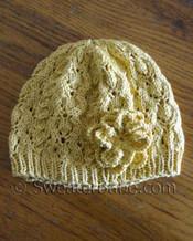 photo of #115 Romantic Lace Beret PDF Knitting Pattern