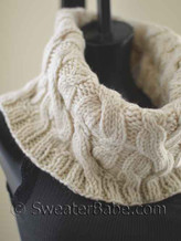 #120 Double Cabled Cowl knitting pattern