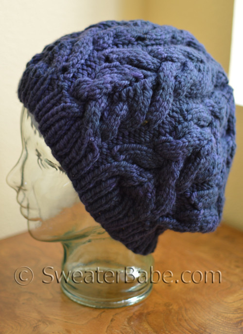 Knitting Unit Project : Knitting pattern richly cabled hat project from