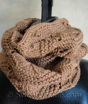 #125 Luxe Infinity Scarf PDF Knitting Pattern photo