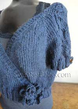 detail photo of #124 Sweet Cropped Cardigan PDF Knitting Pattern