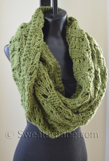photo of #127 Soft and Chunky Infinity Scarf PDF Knitting Pattern