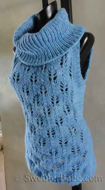 Cowl Neck Hoodie Knitting Pattern : Knitting Pattern - Malabrigo Sleeveless Tunic Cowl Neck ...