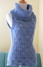 photo of #126 Malabrigo Sleeveless Cowl Neck Sweater PDF Knitting Pattern