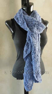 photo of #129 Dreamy Ruffled Alpaca Scarf PDF Knitting Pattern