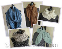 photo of #EB001 SweaterBabe.com's 5 Best-Selling Scarf & Cowl Knitting Patterns PDF eBook