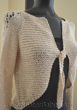 #133 High Low Glamorous Top-Down Cardigan PDF Knitting Pattern