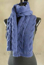 photo of #130 Reversible Ribbed Anniversary Scarf PDF Knitting Pattern