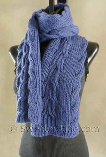 photo of #130 Reversible Ribbed Anniversary Scarf PDF Knitting Pattern