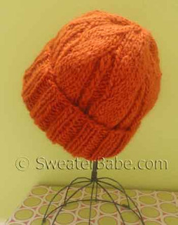photo of #136 One-Ball Chunky Cuffed Hat PDF Knitting Pattern
