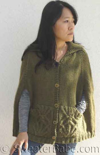 photo of #138 Covetable Cabled Cape PDF Knitting Pattern