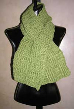 photo of #33 Handsome Basketweave Crocheted Scarf PDF Crochet Pattern