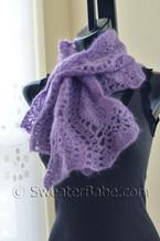 wavy edged scarf crochet pattern