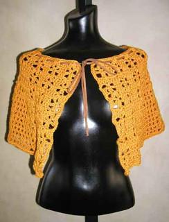 photo of #45 Suede Tie Capelet PDF Crochet Pattern