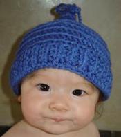 photo of #59 Bobble Tie Crochet Baby Hat