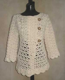 photo of #76 Vintage Top-Down Crochet Cardigan