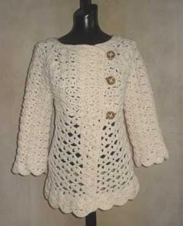 photo of #76 Vintage Top-Down Crochet Cardigan