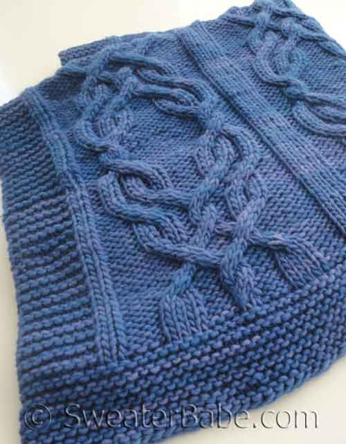 Knitting Pattern For Luxe Cabled Baby Blanket Or Lap Blanket From