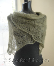 knitting pattern photo for #151 Samantha Featherweight Lace Shawl