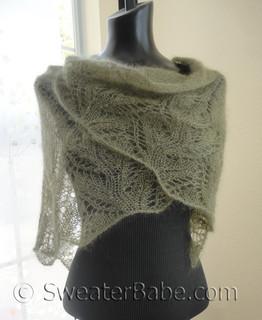 knitting pattern photo for #151 Samantha Featherweight Lace Shawl