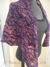 photo of #152 Violet Zig Zag Lace Shawl knitting pattern