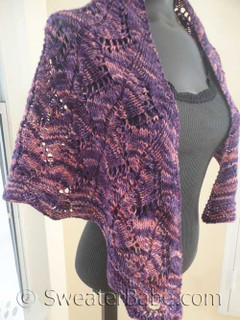 photo of #152 Violet Zig Zag Lace Shawl knitting pattern