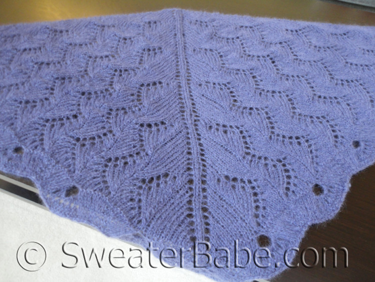 Knitting Pattern For Violet Zig Zag Lace Shawl Scarf Pattern From