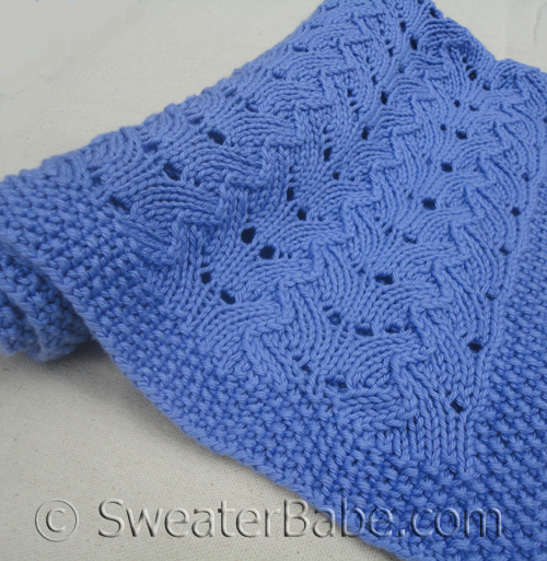 Fancy Knitting Patterns : PDF Knitting Pattern for Textured Lace Baby Blanket from SweaterBabe.com