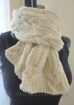 knitting pattern photo for #159 Ultimate Chunky Cables and Ribs Scarf