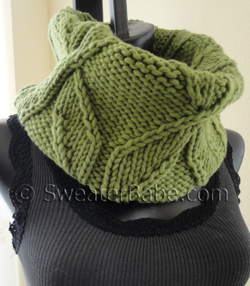 knitting pattern for chunky pinwheel cowl