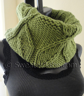 photo of #158 Chunky Pinwheel Cowl knitting pattern