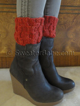 photo of #149 Easy Cabled One-Ball Boot Cuffs knitting pattern