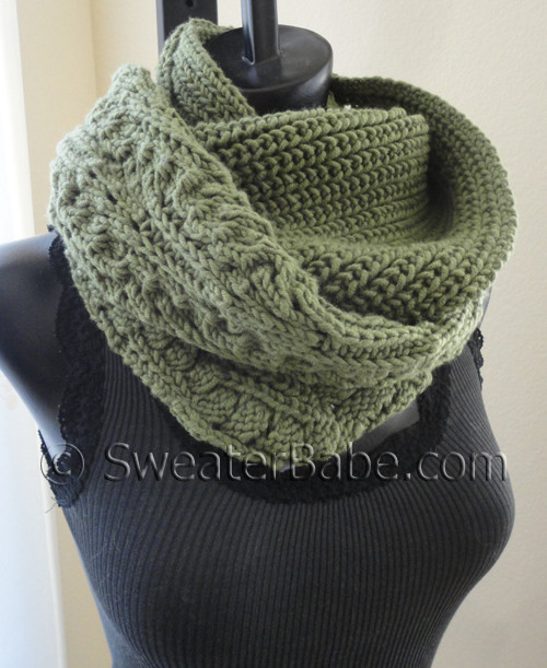 knitting pattern for night and day eternity scarf