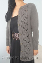 knitting pattern photo of #153 Simply SweaterBabe Top-Down Cardigan