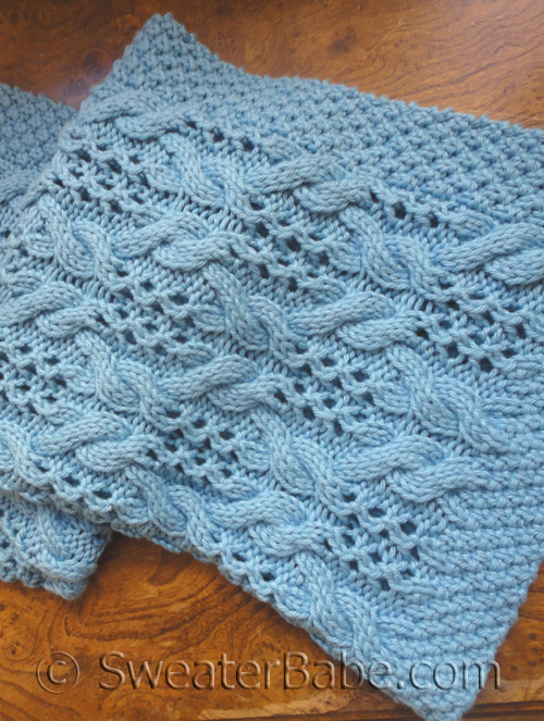 knitting pattern for simply divine baby blanket
