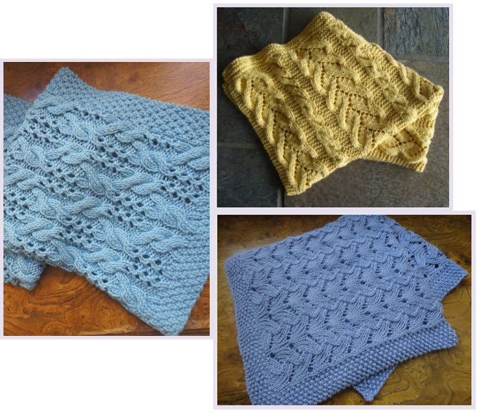 knitting pattern for best-selling blanket trio eBook