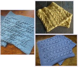 Blanket Trio eBook Knitting Pattern collection
